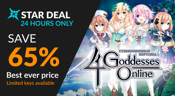 Cyberdimension Neptunia: 4 Goddesses Online 65% off at Fanatical